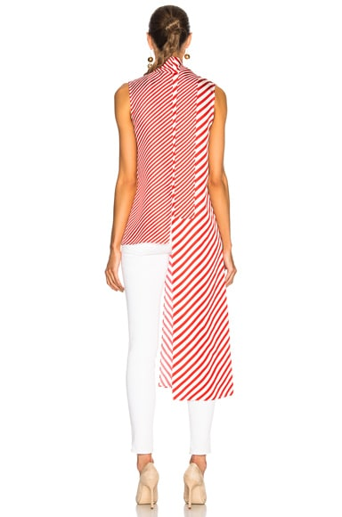 for FWRD Striped Silk Top