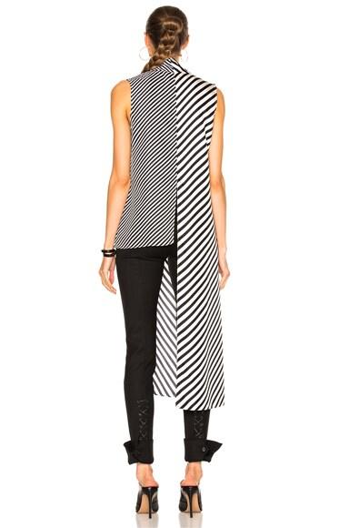 Striped Silk Twill Top