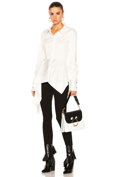 Monse Stretch Cotton Poplin Top in White