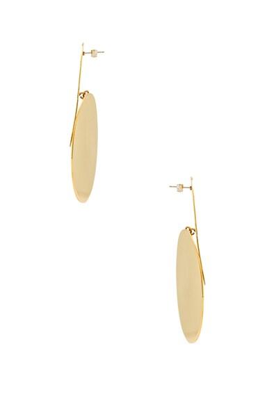 Textured Ellipse Earrings
