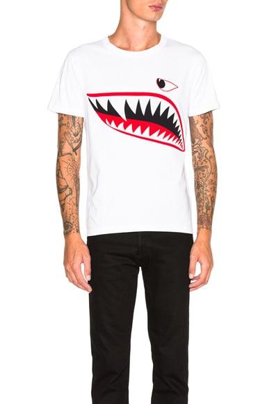 Moncler Shark Tee in White
