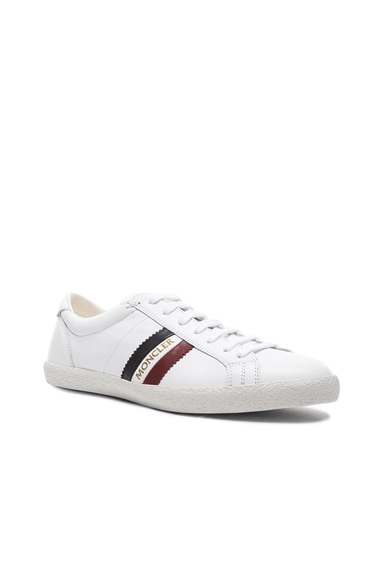 MONCLER Old School Leather Sneakers in White