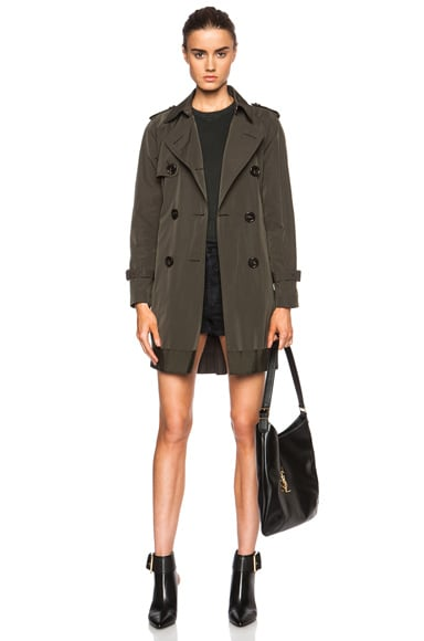 MONCLER Delmas Poly-Blend Trench in Army Green