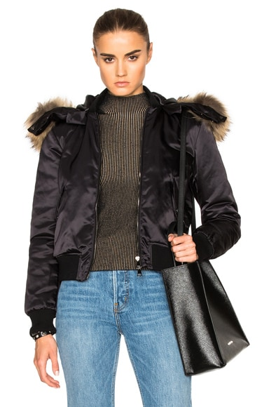 Moncler Eulimene Giubbotto Jacket in Black
