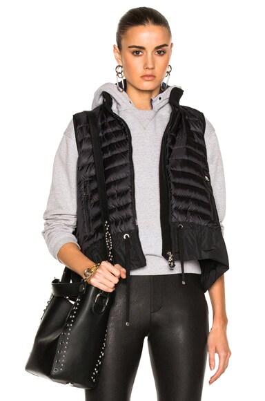 Moncler Maglia Vest in Black