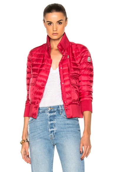 Moncler Silene Jacket in Red & Pink