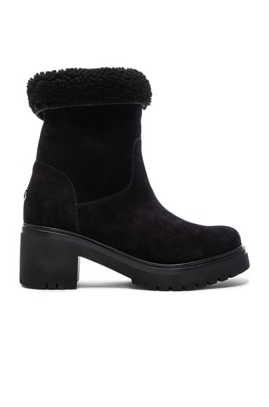 Moncler Suede Cassandre Stivale Boots in Black