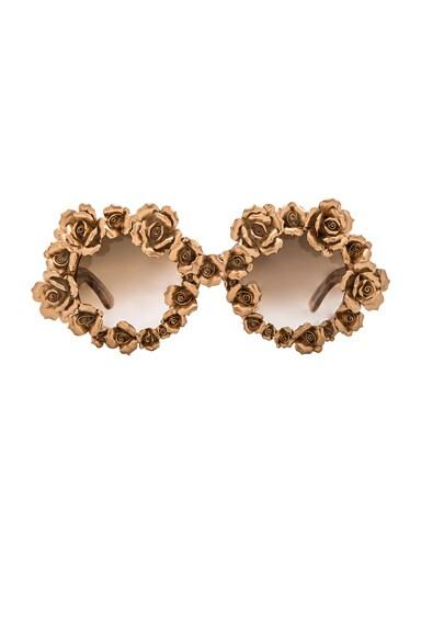 A-Morir Naomi Sunglasses in Gold