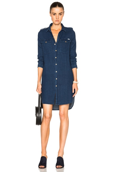 MOTHER Cadet Dress in Double Or Nothing