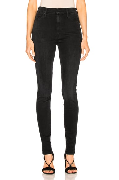 MOTHER Super Swooner Skinny in Blackbird