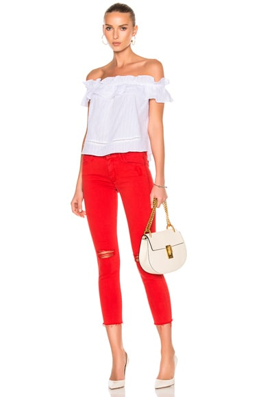 Looker Ankle Fray Crop