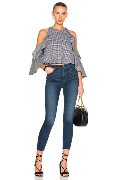 High Waisted Looker Ankle Fray Crop