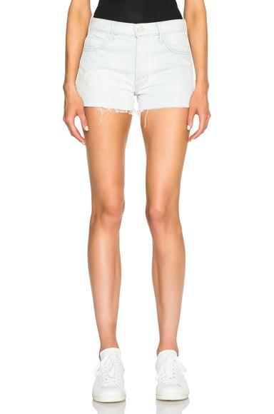 MOTHER Stunner Fray Shorts in Get Blondie