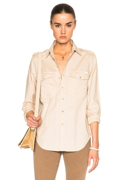MOTHER The Cadet Top in Sahara Sand