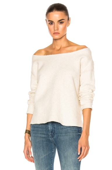 MOTHER The Cold Shoulder Top in Ivory