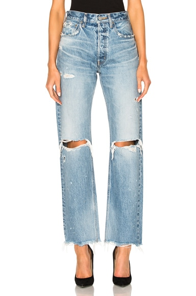 Moussy Odessa Wide Straight in Blue