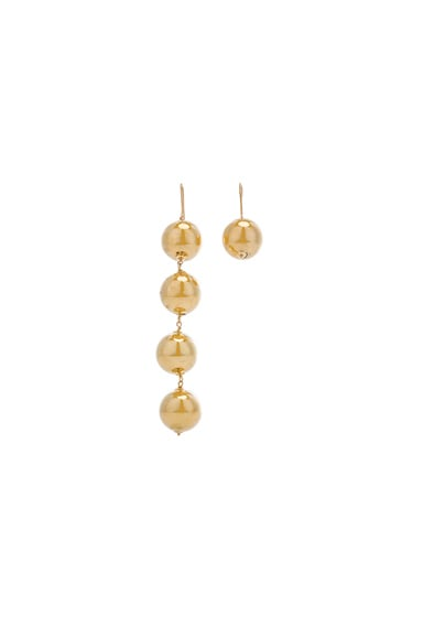 Asymmetric Drop Ball Earrings