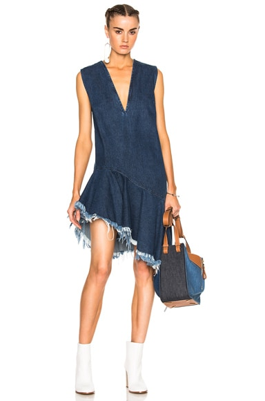 Marques ' Almeida Denim Sleeveless Dress in Stonewash