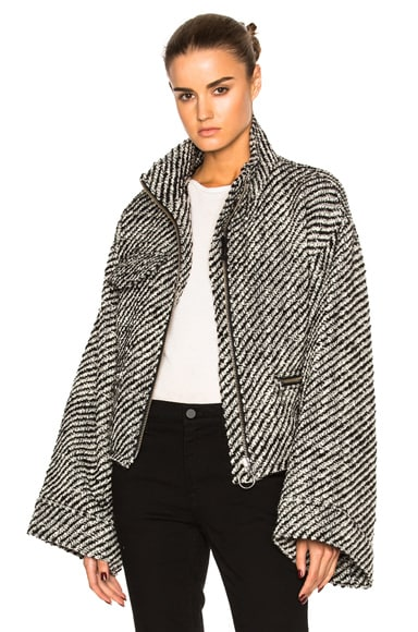Marques ' Almeida Boucle Jacket in Black & White