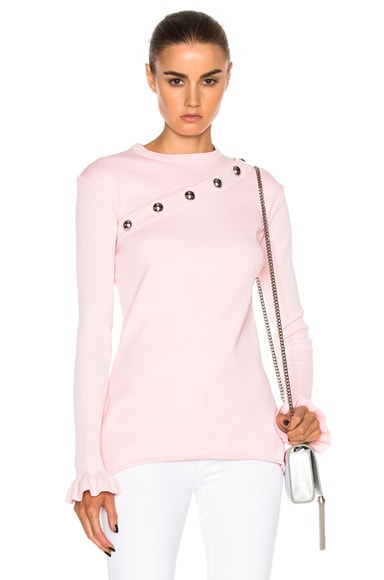 Marques ' Almeida Snap Sweatshirt with Removable Sleeve in Pink