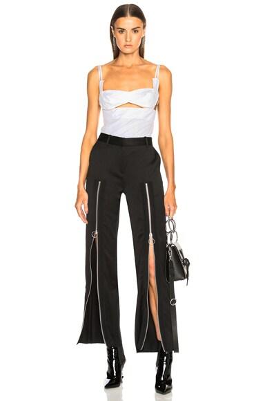 Zip Front Trouser Pant