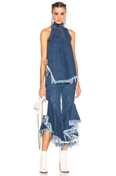 Denim Halterneck Top