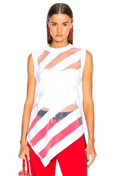 Devore Sleeveless T Shirt