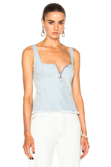 Marques ' Almeida Fitted Corset Top in Baby Blue