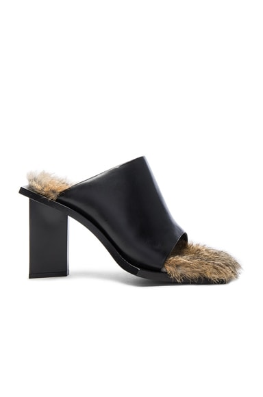 Rabbit Fur Mules