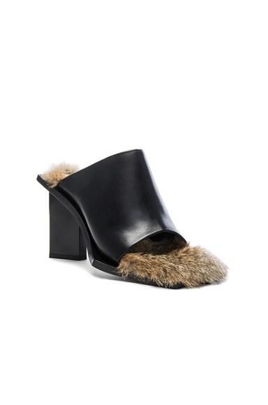 Rabbit Fur Mules