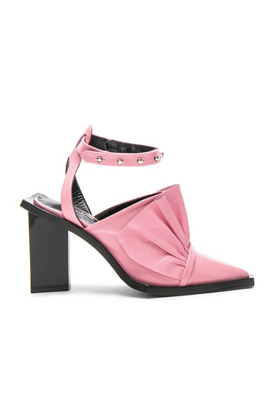 Point Frill Leather Heels