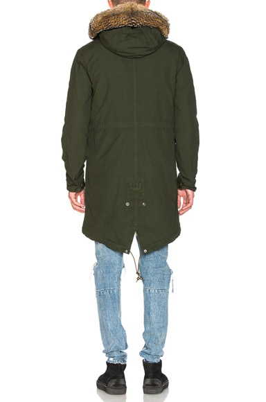Canvas Parka with Patch Virginia Fox