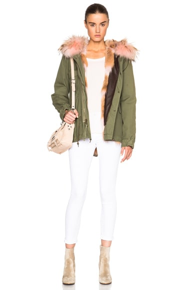 Mini Army Parka Jacket with Coyote Fur