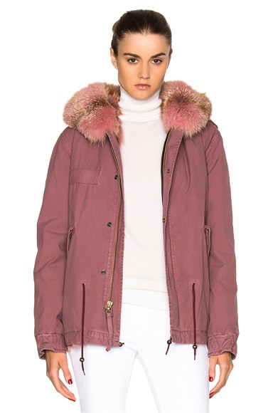 Mr & Mrs Italy Mini Parka Jacket in Sofia Pink