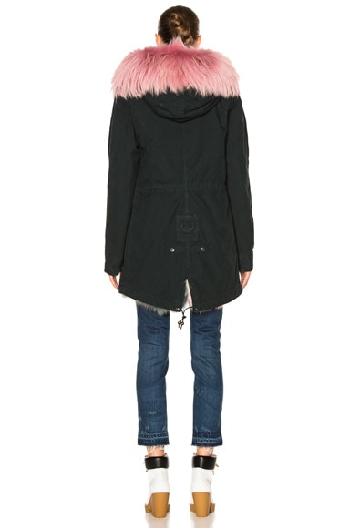 Midi Parka Jacket With Fox & Raccoon Fur