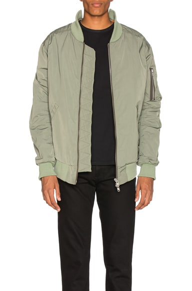 Martine Rose Collapsed Bomber with Cut Out Detail in Green