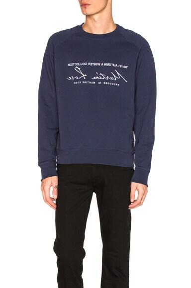 Martine Rose Classic Sweatshirt in Navy & White