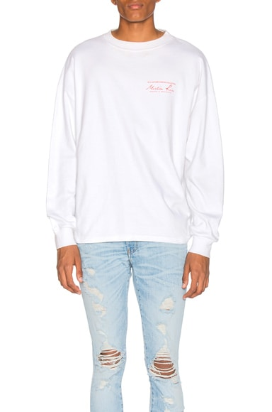Martine Rose Classic Long Sleeve Tee in White & Red