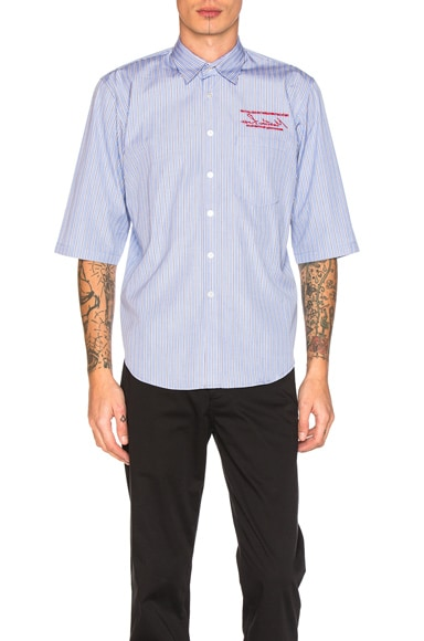 Martine Rose Short Sleeve Shirt in Windsor