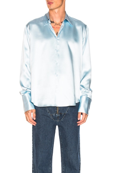 Double Cuff Satin Shirt
