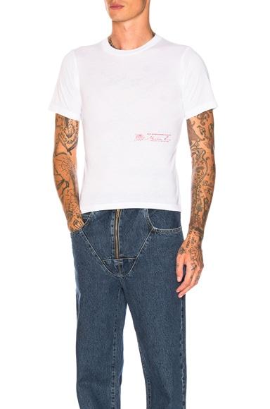 Slim Short Sleeve T-Shirt with Rose Print Detail