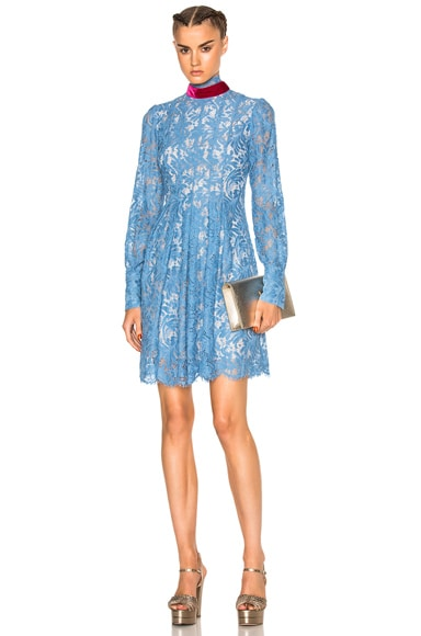 MSGM Lace Dress in Blue