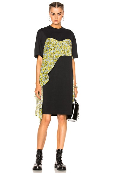 MSGM Ruffle Dress in Black