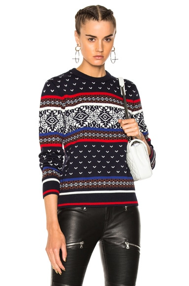 Jacquard Knit Sweater