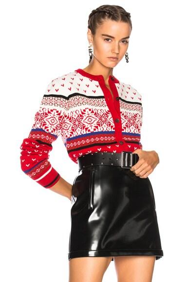 Jacquard Knit Cardigan