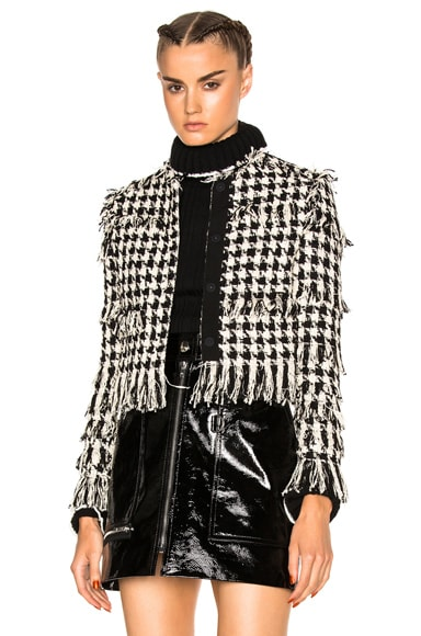 MSGM Tweed Jacket in Black & White