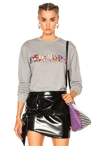 MSGM New York Sweatshirt in Gray