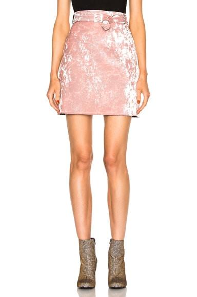 MSGM Velvet Skirt in Blush