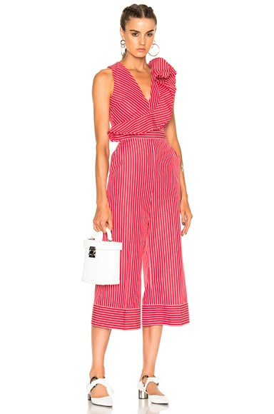 Striped Sleeveless Jumpsuit