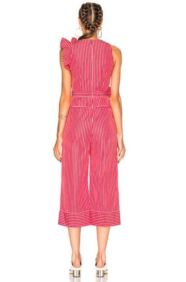 Striped Sleeveless Jumpsuit